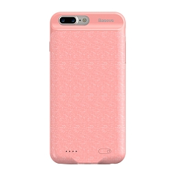 Чехол-батарея Baseus для iPhone 7 Plus Pink (3650 mAh)