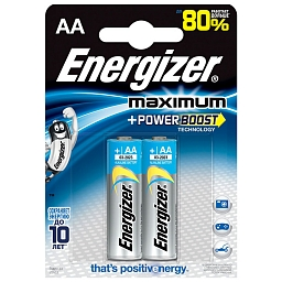 Батарейка Energizer Maximum AA, 2шт