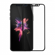 Защитное стекло для iPhone X Hoco v3 Cool Radian Series High Transparent Tempered Glass Black