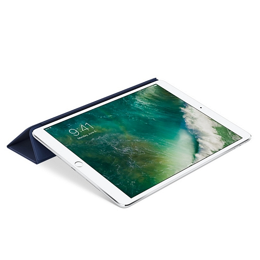 Обложка Apple Leather Smart Cover for 10.5'' iPad Pro - Midnight Blue