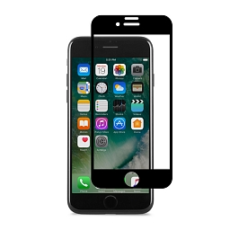 Стекло защитное для iPhone 7 Plus Moshi IonGlass Black (Glossy)