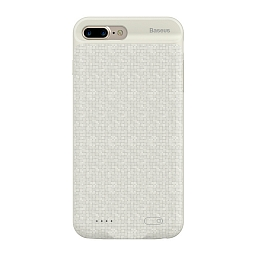 Чехол-батарея Baseus для iPhone 7 Plus White (3650 mAh)