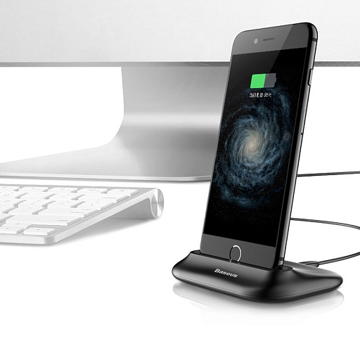 Док-станция Baseus Charging Station Volcano для iPhone 7/7 Plus Black