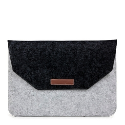"Чехол для MacBook (up to 15"") Dixico Felt Bag Black/Gray"
