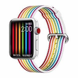 Браслет для Apple Watch 38/40mm COTEetCI W30 Rainbow Woven Nylon Strap Black Rainbow