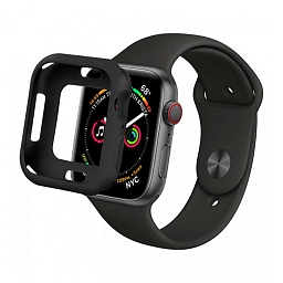 Чехол для Apple Watch Series 4/5 40mm COTEetCI SmartWatch TPU Case Black