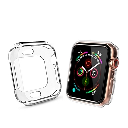 Чехол для Apple Watch Series 4/5 44mm COTEetCI SmartWatch TPU Case Clear
