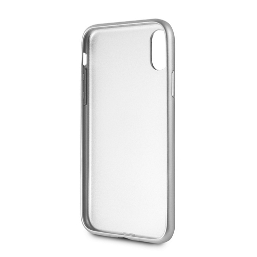 Чехол для iPhone X/XS BMW Signature Brushed Aluminium Hard Silver