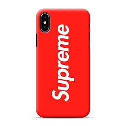 Чехол для iPhone XS Max Supreme Silicone Case Red