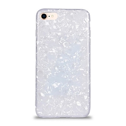 Чехол для iPhone 7/8 Broken Glitter White