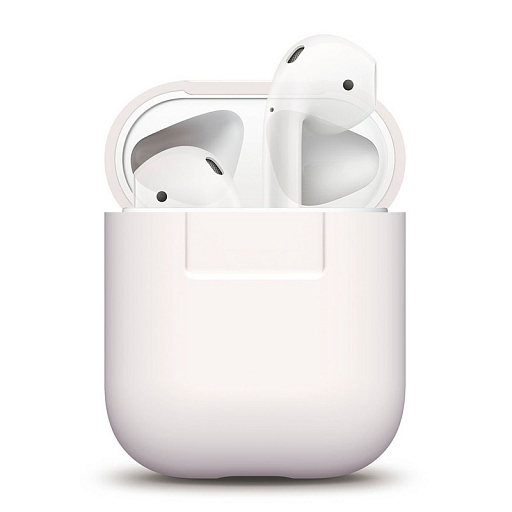 Чехол для наушников Apple AirPods Elago Silicone Case White
