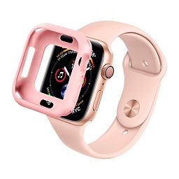 Чехол для Apple Watch Series 4/5 44mm COTEetCI SmartWatch TPU Case Rose