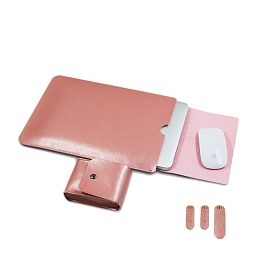 "Чехол-конверт для MacBook (up to 15"") Dixico Leather Pink"