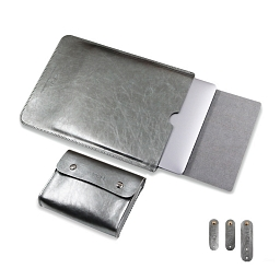 "Чехол-конверт для MacBook (up to 15"") Dixico Leather Silver"