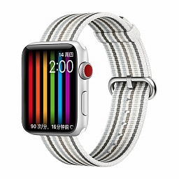 Браслет для Apple Watch 38/40mm COTEetCI W30 Rainbow Woven Nylon Strap White Gray