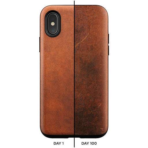 Чехол для iPhone X/XS Nomad Rugged Case Rustic Brown