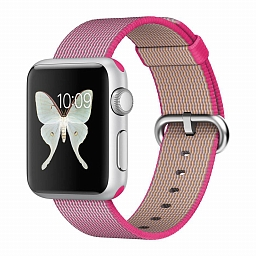 Браслет для Apple Watch 38/40mm COTEetCI W11 Nylon Strap Pink