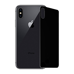 Защитное стекло для iPhone X/XS Mocoll 3D Full Cover Back Gray