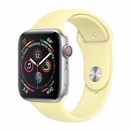 Ремешок для Apple Watch 38/40mm COTEetCI W3 Silicone Band Milk Yellow