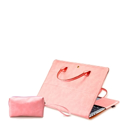 "Сумка-чехол для MacBook 15"" Dixico  (Mouse Pad, Mouse Case, Cover Kayboard, Adapter Type-C - USB) Pink"