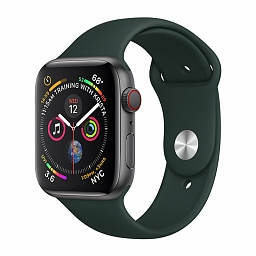 Ремешок для Apple Watch 38/40mm COTEetCI W3 Silicone Band Dark Sea Green