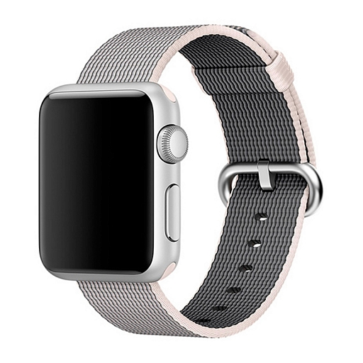Ремешок для Apple Watch 38/40mm Dixico Nylon Line Pattern Band Light Gray/White