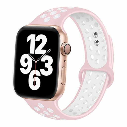 Ремешок для Apple Watch 42/44mm Dixico Silicone Band Nike+ Series Pink/White