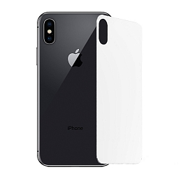 Защитное стекло для iPhone X/XS Mocoll 3D Full Cover Back Silver
